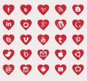 Sociala massmediasymboler stock illustrationer