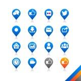 Sociala massmediasymboler - enkelhetsserie royaltyfri illustrationer