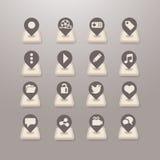 Sociala massmediasymboler - Grace_Series vektor illustrationer