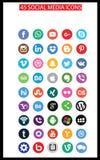 Sociala massmediasymboler (Set2) arkivbild