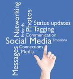 sociala medel Arkivbild