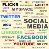 sociala medel stock illustrationer