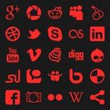 sociala medel vektor illustrationer