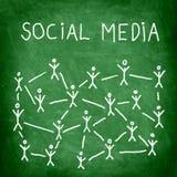 sociala medel Royaltyfri Fotografi