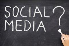 sociala medel Arkivfoton