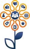 Sociala medel och nätverksillustration royaltyfri illustrationer