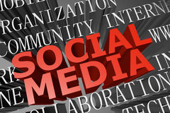 Sociala medel word oklarheten Arkivbild