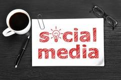 Sociala medier royaltyfria bilder
