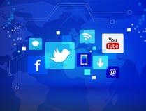 Sociala medier Fotografering för Bildbyråer