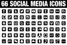 Sociala medissymboler royaltyfri illustrationer