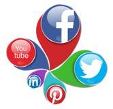 Sociala nätverk vektor illustrationer