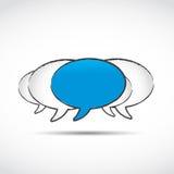 Sociala nätverkandeanförandebubblor Royaltyfria Foton