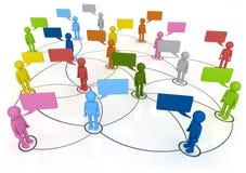 Sociala nätverksanslutningar Arkivfoton