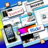 Sociala nätverkssymboler Arkivfoton