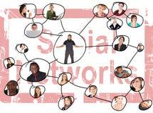sociala nätverk Fotografering för Bildbyråer