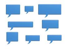 Sociala ord för massmediapratstundbubbla Arkivbild