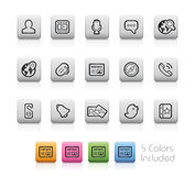 Sociala symboler -- Översiktsknappar Royaltyfria Foton
