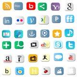 Sociala symboler stock illustrationer