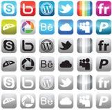 sociala symbolsmedel Arkivfoto