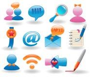 sociala symbolsmedel som ställs in Arkivbilder