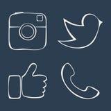 sociale Fotografia Stock