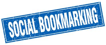 sociale bookmarking zegel stock illustratie