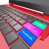 Sociale chiave Immagini Stock