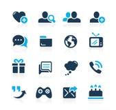 Sociale Communicatie Pictogrammen //Azure Series Royalty-vrije Stock Afbeeldingen