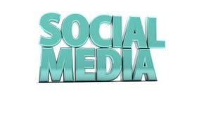 Sociale 3d Media stock illustratie