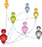 Sociale de aansluting van netwerkmensen illustratie Stock Foto