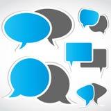 Sociale de bellenreeks van de voorzien van een netwerkdialoog Stock Foto's