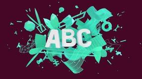 Sociale de media van ABC kaart Stock Foto