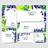 Sociale die Media Banner voor Rio Brazil Games wordt geplaatst Royalty-vrije Stock Fotografie