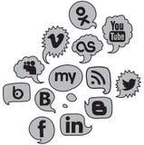 Sociale embleemstem Stock Foto's