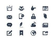 Sociale en communicatie pictogrammen Royalty-vrije Stock Foto's