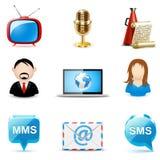 Sociale en communicatie pictogrammen   De reeks van Bella Royalty-vrije Stock Afbeelding