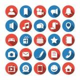 Sociale en media pictogrammen Stock Foto's