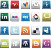 SOCIALE GEPLAATSTE NETWERKknopen Stock Afbeelding