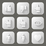 Sociale geplaatste pictogrammen Royalty-vrije Stock Foto