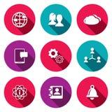 Sociale geplaatste pictogrammen Stock Afbeeldingen