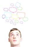 Sociale gesprekken stock fotografie