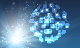Sociale globale Immagini Stock