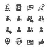 Sociale het pictogramreeks van de netwerkgebruiker, vectoreps10 Stock Afbeeldingen