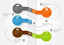 sociale infographic Fotografie Stock