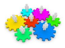 Sociale interactie Stock Foto