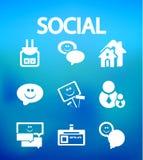 Sociale Internet vectorpictogrammen vector illustratie
