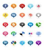 Sociale Knopen 1 van Media Royalty-vrije Stock Foto