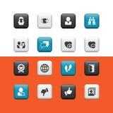Sociale knopen stock illustratie