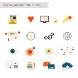 Sociale Marketing Pictogrammen Royalty-vrije Stock Afbeelding