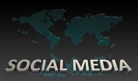 Sociale Media royalty-vrije illustratie